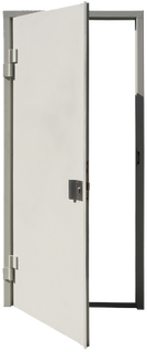 Puerta blindada con jaladera de ambos lados