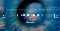 Carnet d'Art, 02, Arthur Yasmine, La Lyre du rhapsode, lire, actualité 2014, le Temps