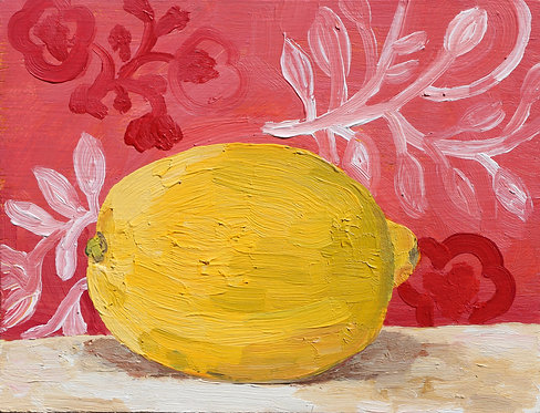 1st lemon on Pink (Still Life 14)