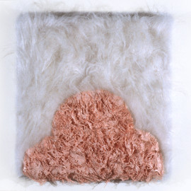 """Fake Fur and Enamel  14"""" x 14"""" 1998"""