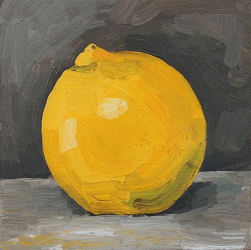 Lemon on Dark 2 (Still Life 25)