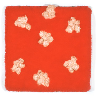 "Fake Fur, Cotton Balls and Enamel 12"" x 12"" 1999-2000"