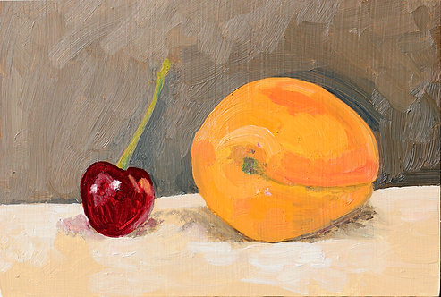 Cherry and Apricot (Still Life 21)