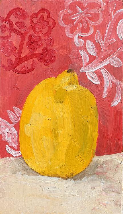 2nd Lemon on Pink (Still Life 15)