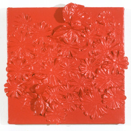 "Fake Flowers Enamel on Canvas 12"" x 12"" 1999-2000"
