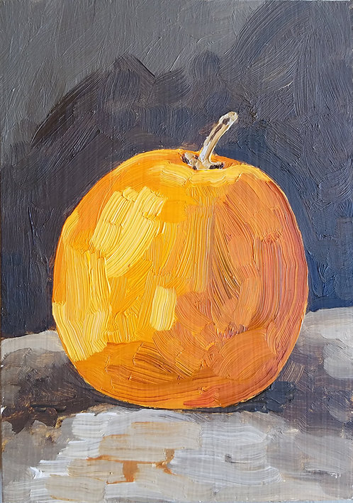 Orange on Dark (Still Life 8)