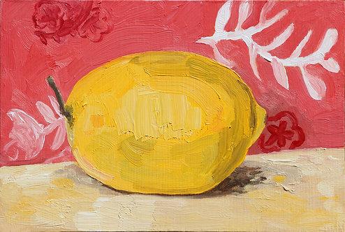 3rd Lemon on Pink (Still Life 16)
