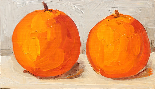 An Orange and Another Orange (Still Life 5)