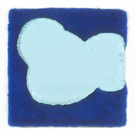 """Fake Fur and Enamel on Canvas 12"""" x 12"""" 1999-2000"""