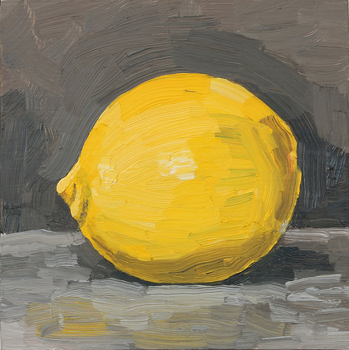 Lemon on Dark 1 (Still Life 24)