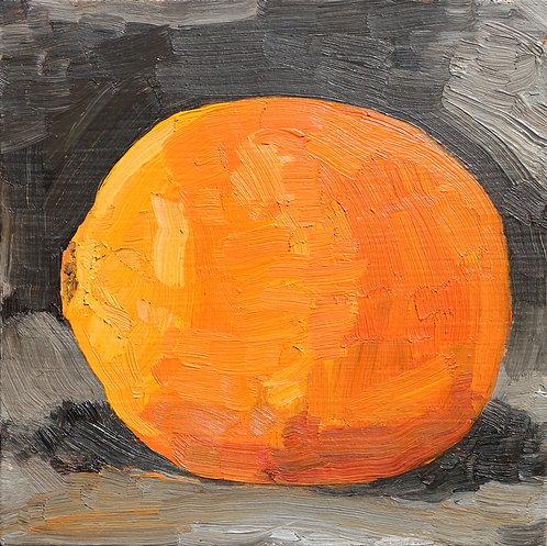 Orange on Dark Background (Still Life 19)