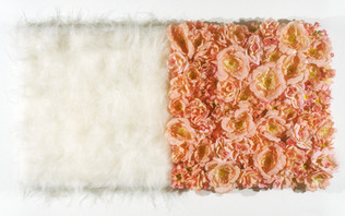 "Fake Fur and Fake Flowers 28"" x 14"" 2000"