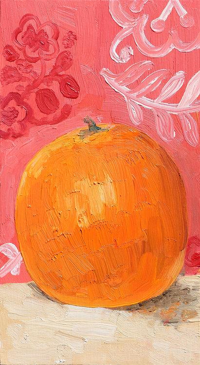 Orange on Pink (Still Life 17)