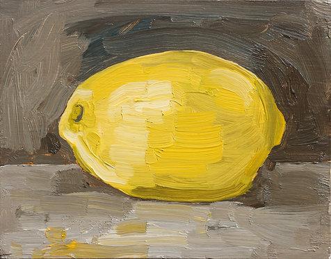 Lemon on Dark (Still Life 18)