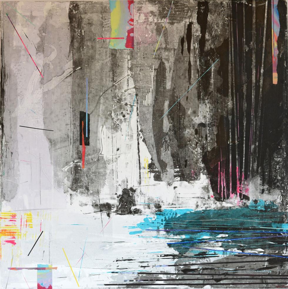 Terry Beard-'Wasteland' mixed media 100x