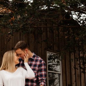 Rustic House Engagement / Melissa & Justin / By Sarah