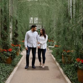 Longwood Gardens Engagement / Briana & Jordan / By Sarah