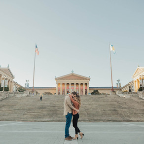 Philly Art Museum Engagement / Sarah & George / By Joe