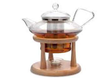 Glass Teapot with Warming Stand