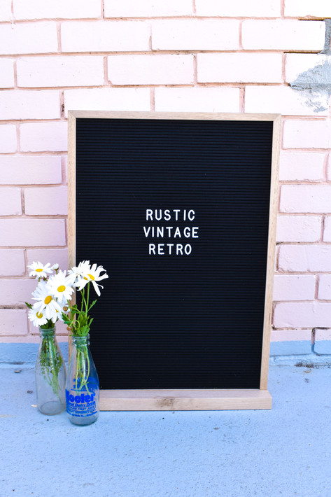 Letter Board, Rustic Vintage Retro, Milk Bottles,