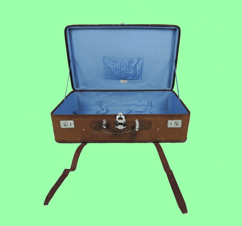 Buy Collection - Vintage Suitcase Green Background