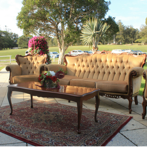 Vintage Three Seater Lounge, Wedding, Event Hire