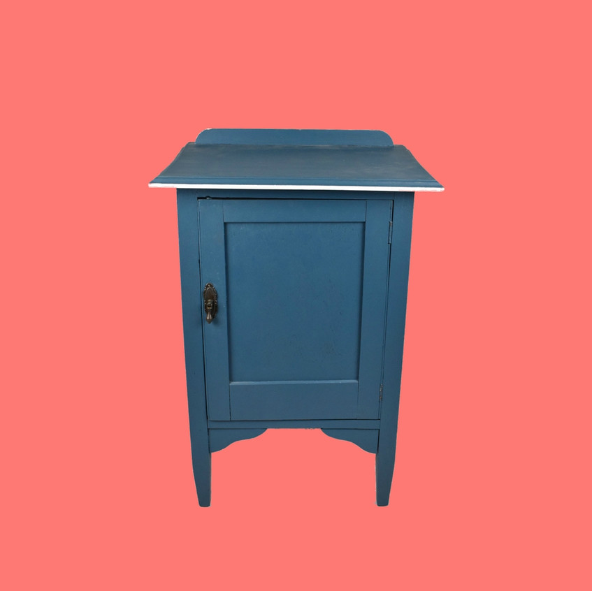 Buy Collection - Blue Storage Cabinet Red Background