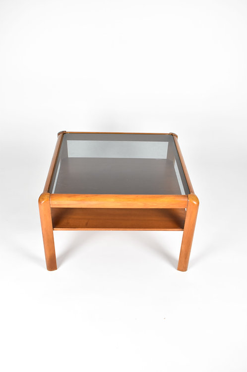 Retro Coffee Table with Tinted Glass