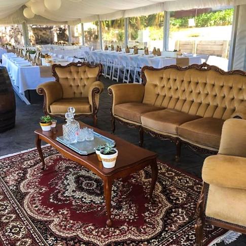 Vintage Lounge, Vintage Chairs, Vintage Table, Vintage Rug, Events,