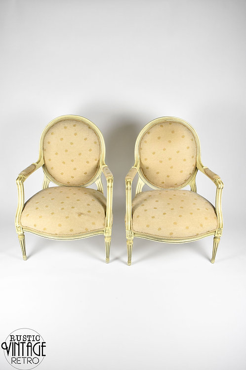 Pair of Vintage French Style Armchairs