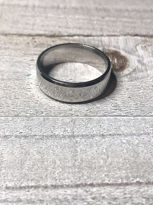 Silver Stainless Steel Band Ring
