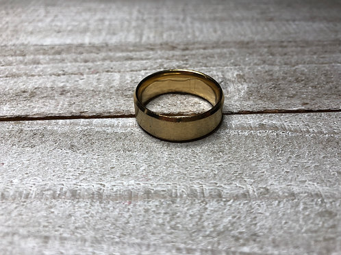 Gold Stainless Steel Band Ring
