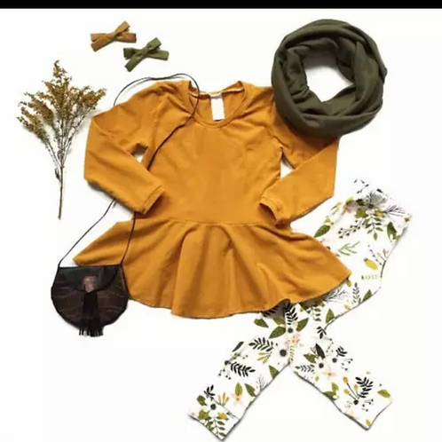 Mustard Floral outfit (2pcs)