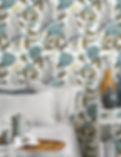 COCKATOO PARADISE AQUATIC BLUE OLIVE GRE