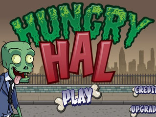 "James as Hal, others in ""Hungry Hal"" Mobile Runner game"