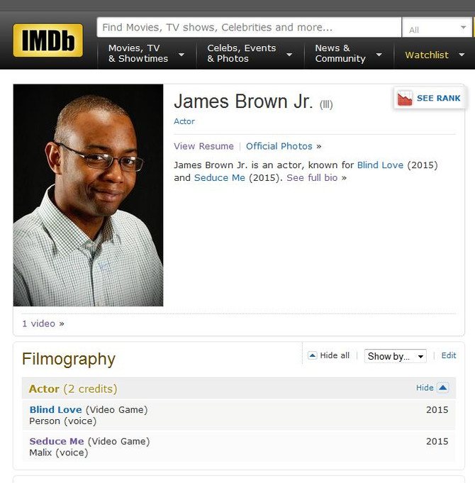 I'm on IMDb! Just Sayin'