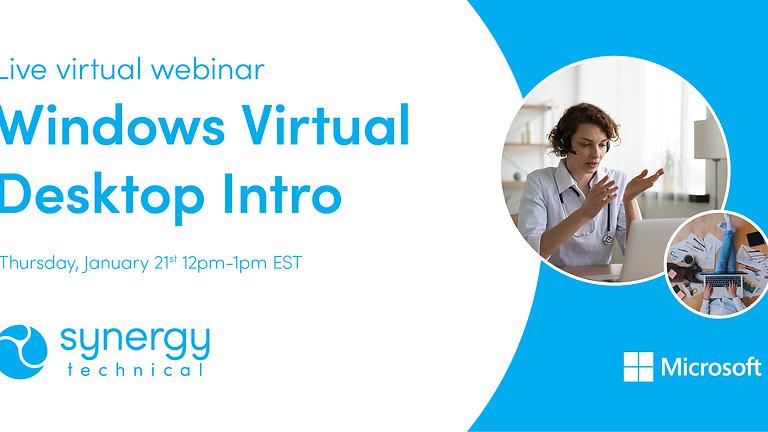 Windows Virtual Desktop Intro Webinar