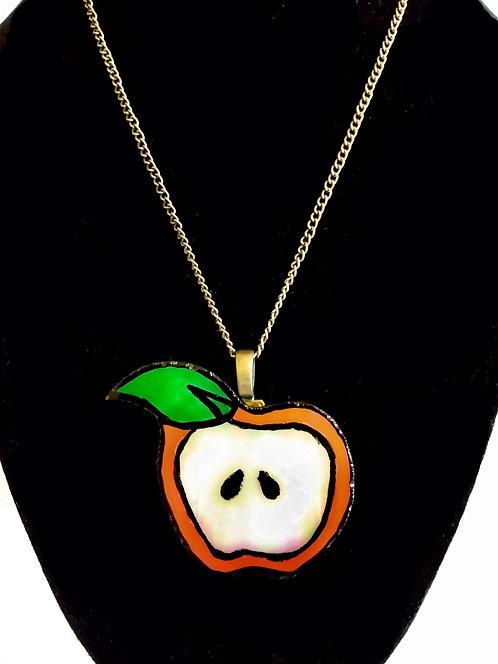 Sliced Apple Necklace