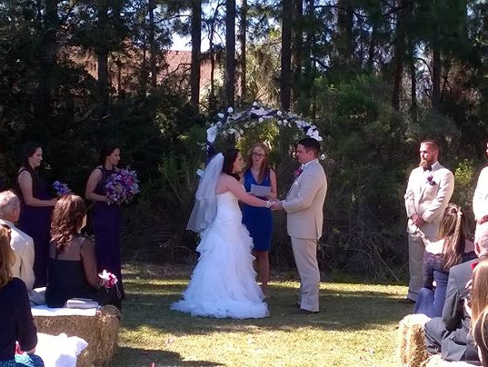 Tyler and Mary Palumbo being married 😊