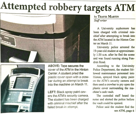 Attemped Robbery Targets ATM