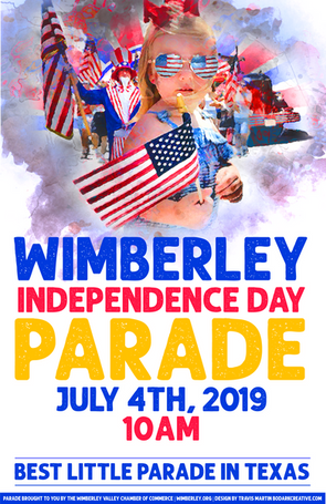 Wimberley Independence Day 2019 poster