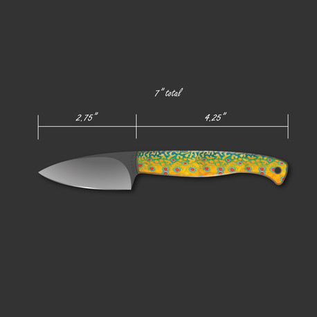 Brook trout knife mockup