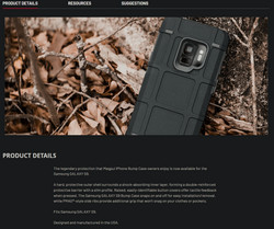 Galaxy s9 bump case product description.