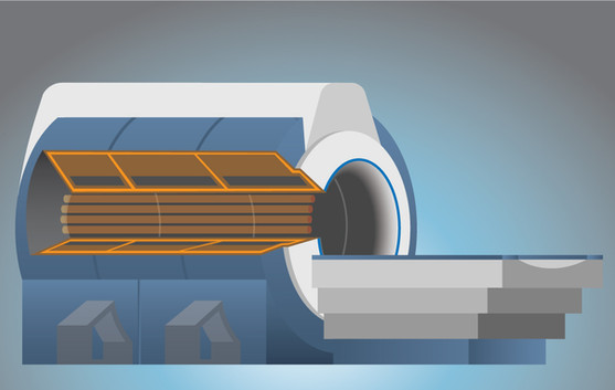 MRI Scanner w/Cutout