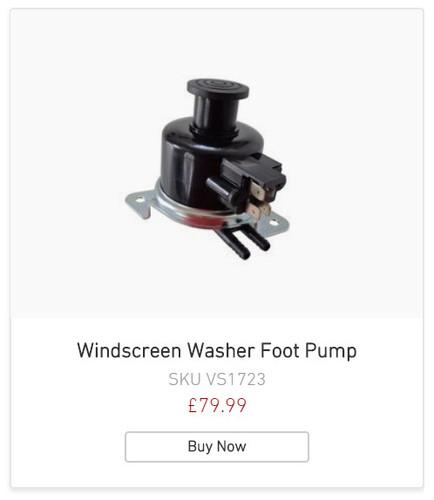 Alfa Romeo Windscreen Washer Foot Pump