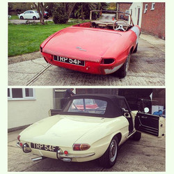 Before & after. Alfa Romeo Spider Duetto