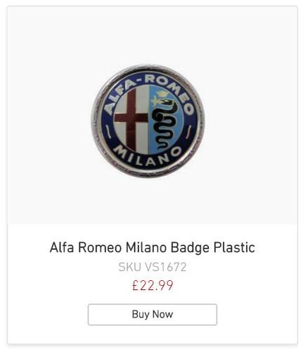 Alfa Romeo Badge Plastic