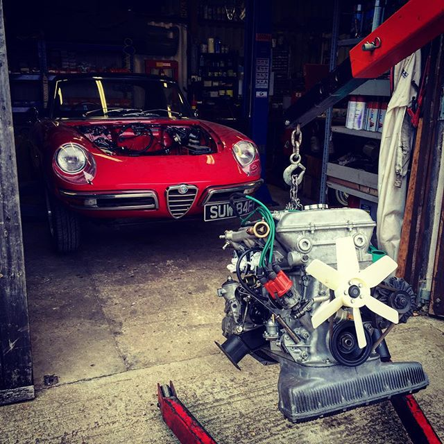 Rebuilt 1600 engine ready for the Duetto
