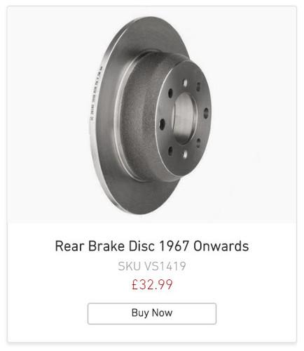 Alfa Romeo Rear Brake Disc