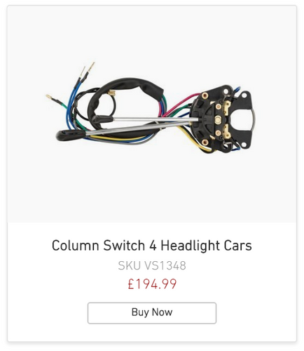 Alfa Romeo 105 Series Column Switch 4 headlight Cars